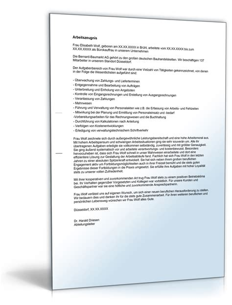 Dienstzeugnis Praktikum Vorlage Arbeitszeugnis Quot Gut Quot B 252 Rokaufmann B 252 Rokauffrau