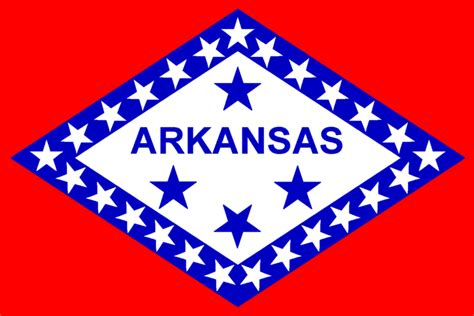 Arkansas The 25th State by The Official Arkansas State Flag Depicted Above Is The