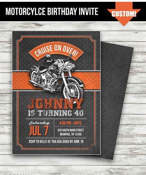 Harley Davidson Invitations by Motorcycle Biker Birthday Invitation Vintage Motorcycle