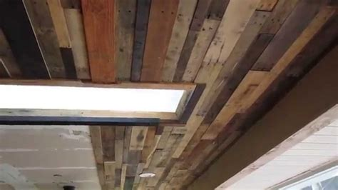 How To Put Wood On Ceiling by Pallet Wood Ceiling Ideas Image Ideas For A Ceiling