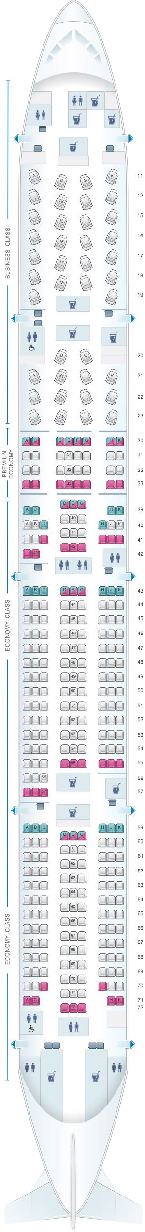 Cabin Plan by Plan De Cabine Cathay Pacific Airways Boeing B777 300er