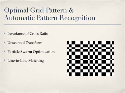 grid pattern recognition automatic grid pattern recognition for camera calibration