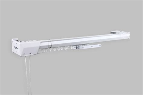 bay window traverse curtain rods white heavy duty traverse rod one way cord left