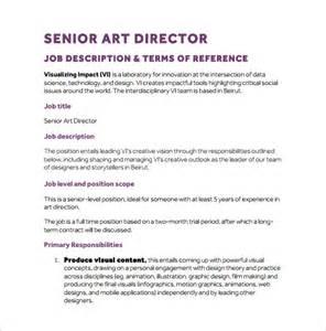 Artist Description by 10 Director Description Templates Free Sle Exle Format Free