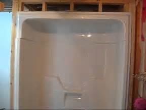 Menards Bathtub Surrounds Installing A Maxx Aspen 3 Piece Tub Shower Day 2 Youtube