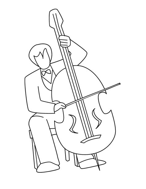free coloring pages of violin cello