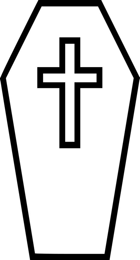 Coffin Svg Png Icon Free Download (#556615