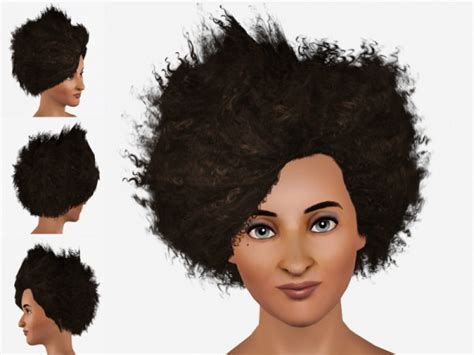 sims 3 african american hairstyles curly and teased hairstyle wild fire fro by nathia at mod the sims sims 3 hairs