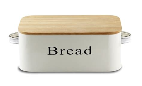 Kitchen Canister by Save 52 Bread Box Vintage Metal Bread Bin Cream With