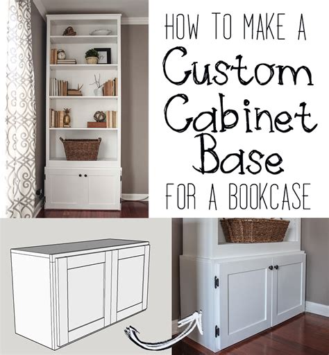 bookshelf with bottom cabinet how to build a custom cabinet base for a bookcase