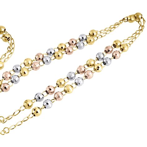 gold rosary uk 10k mens or tri color real gold rosary cut