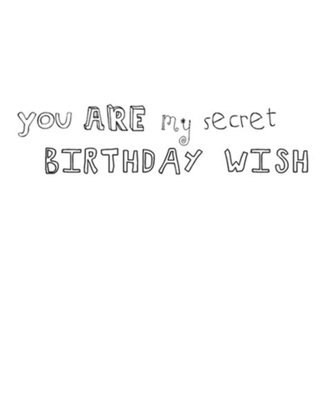 my secret quotes you are my secret birthday wish saying pictures
