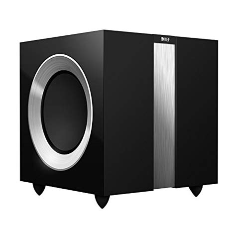 Kef R400b Subwoofer kef r400b front firing powerful subwoofer high gloss piano black single