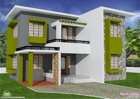 flat house design 1700 sq feet flat roof home design house design plans