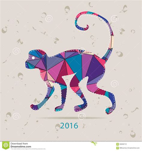 new year card design ai happy new year 2016 creative greeting card with monkey