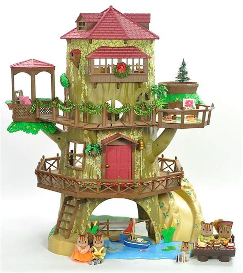 Sylfanian Tree House fistuff sylvanian families decorated oak tree house large lot sylvanian