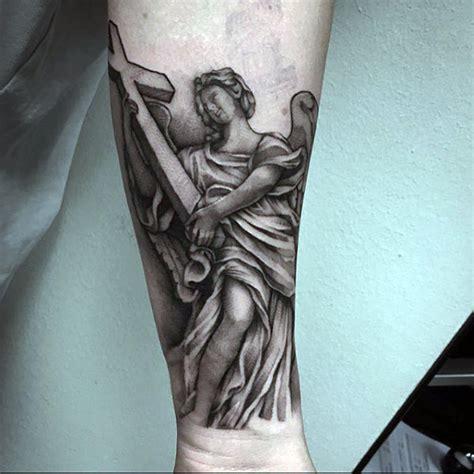 tattoo angel cross 100 guardian angel tattoos for men spiritual ink designs