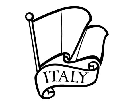 coloring page italian flag italian coloring page