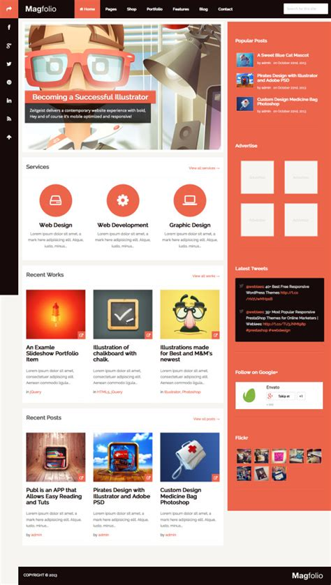 themes compatible with woocommerce magfolio woocommerce compatible wordpress ecommerce theme