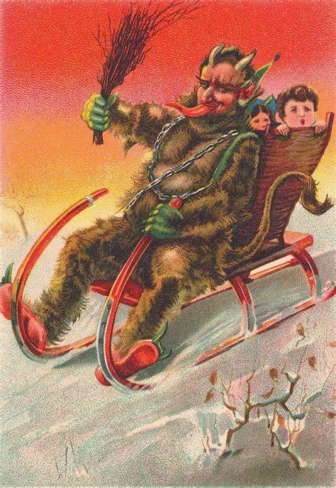 krampus  devil  christmas greeting cards boing boing