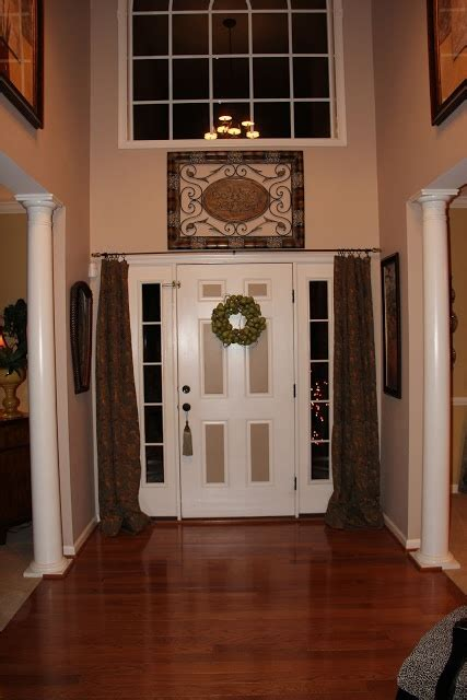foyer window privacy an option for curtains those windows next to the
