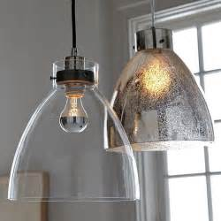 Glass Pendant Lights For Kitchen Minimalist Glass Pendant With An Industrial Design