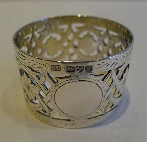 antique sterling silver napkin ring chester 1902