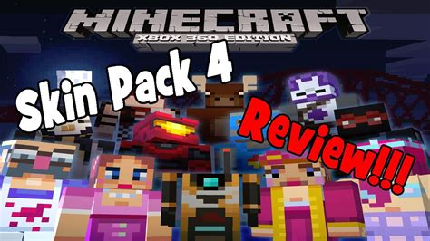 skins all 4 minecraft skin pack 4 review all 45 skins youtube