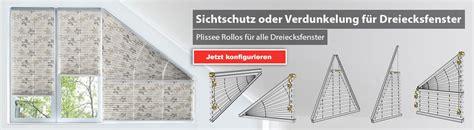 Lichtband Fenster Sichtschutz by Plissee Dreiecksfenster G 252 Nstig Livoneo 174