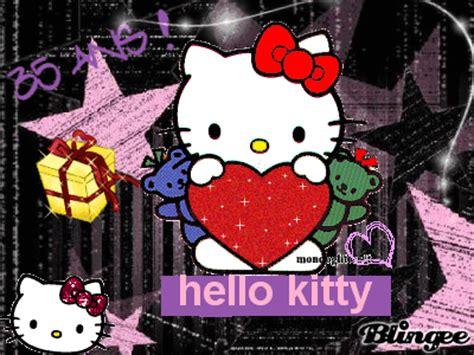 imagenes de hello kitty con brillo y movimiento hello kitty 35 ans picture 101189349 blingee com