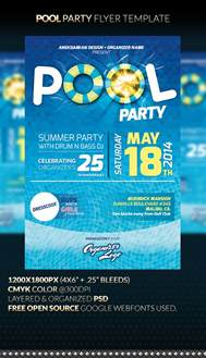 pool party flyer template by anekdamian on deviantart