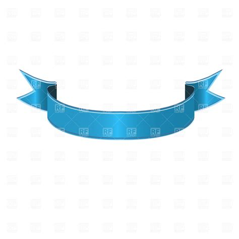 ribbon designer blue curved ribbon 1277 design elements