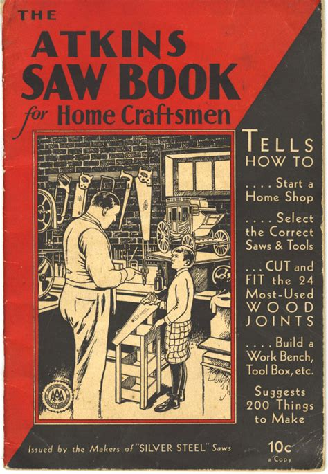 woodworking books free free atkins saw book for home craftsmen