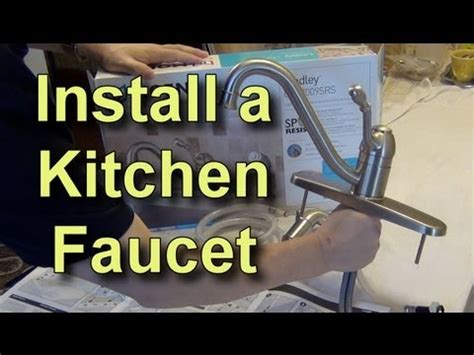 How To Change Out A Kitchen Faucet by How To Replace A Kitchen Faucet Youtube