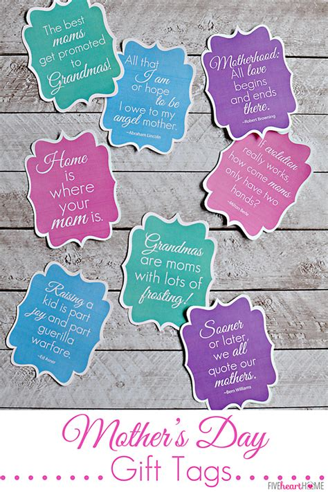 free printable quote tags mother s day gift tags free printables featuring mom quotes