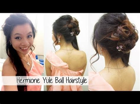 hermione yule ball hairstyle uploaded by x3haha