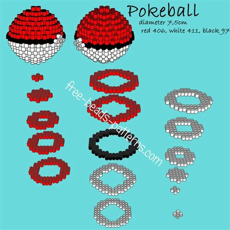 perler bead patterns 3d pokeball 3d perler hama playbox pyssla pattern