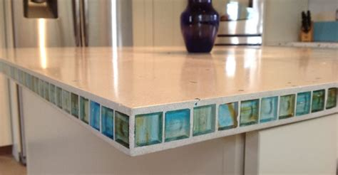 Glass Tile Kitchen Countertop by Counters With Tile Inlays The Concrete Network