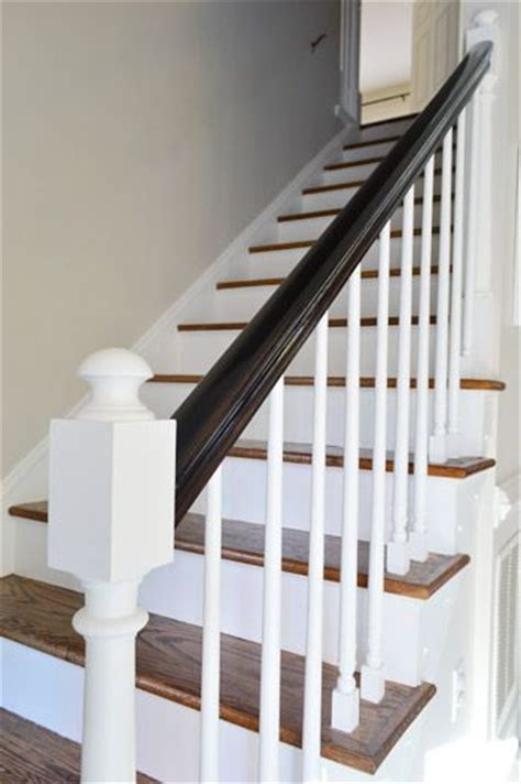 how to paint a banister black best 25 painted banister ideas only on pinterest