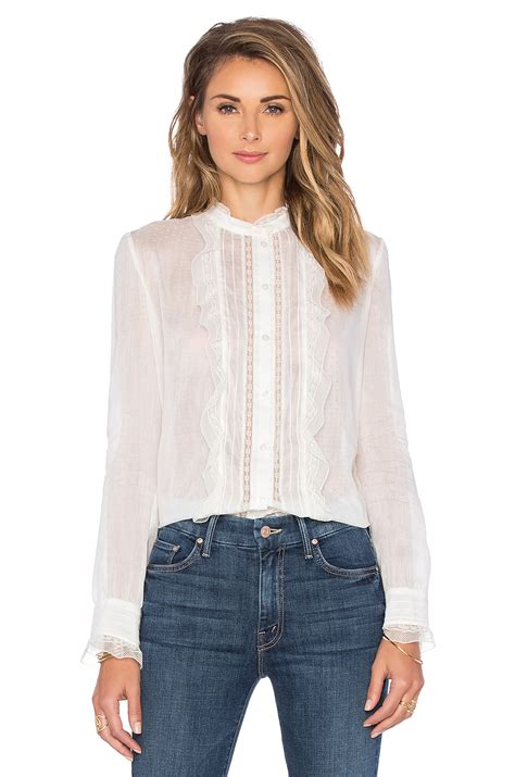 Dressy White Blouses With Ruffles by Womens White Ruffle Front Blouse Smart Casual Blouse