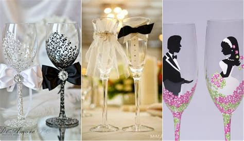 wedding glasses decoration ideas weddings