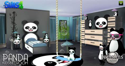 panda wallpaper for bedroom my sims 4 blog panda bedroom set for kids by jomsims