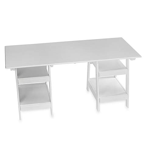White Trestle Desk Bed Bath Beyond Trestle Desk White