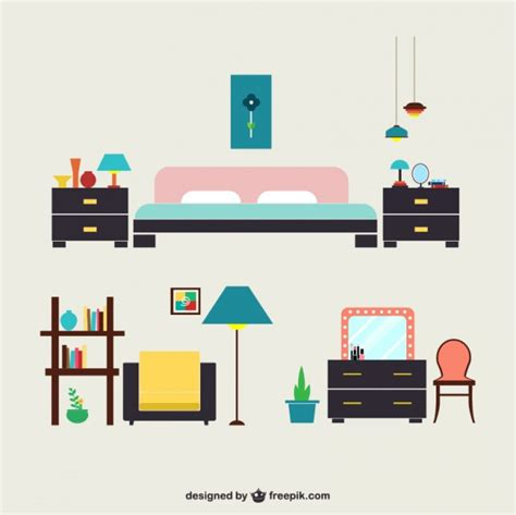 bedroom furniture vector free