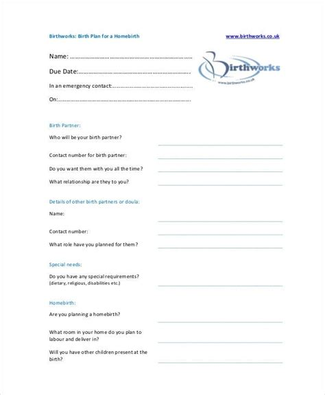 cesarean birth plan template free cesarean birth plan template free template design