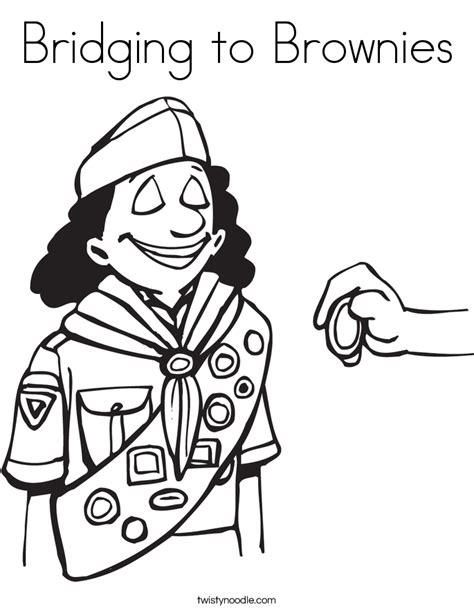 Brownie Scout Promise Coloring Pages Coloring Pages Scout Brownie Coloring Pages