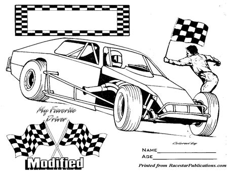 coloring page race cars nascar coloring pages modified race car colouring pages