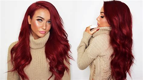 is bellami hair good on thinning hair how i dye my bellami hair extensions red unboxing the