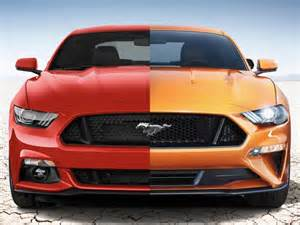 compare new cars side by side 2018 ford mustang vs 2017 mustang a side by side comparison