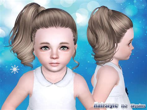 side ponytail sims 3 side high ponytail hairstyle 153 by skysims sims 3 hairs